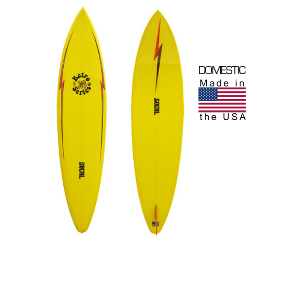 SoCal Diamond Tail Single Fin - Mellow Yellow